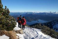 Caminhada nas montanhas Fotos de Stock