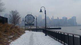 Caminhada nevado Fotografia de Stock