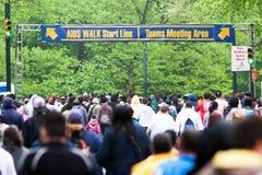 CAMINHADA New York City 2011 do AIDS imagem de stock