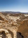 Caminhada no deserto do Negev de Israel imagens de stock royalty free