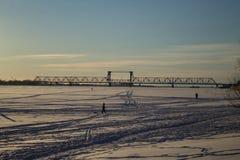 Caminhada no gelo Fotografia de Stock