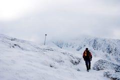 Caminhada no inverno Imagem de Stock