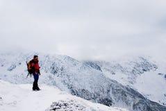 Caminhada no inverno Imagens de Stock