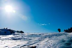 Caminhada no inverno Fotos de Stock Royalty Free