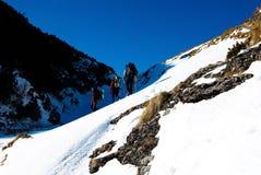 Caminhada no inverno Fotografia de Stock Royalty Free