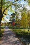 Caminhada no jardim do outono Fotografia de Stock