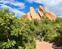 Caminhada no país vermelho da rocha Fotografia de Stock Royalty Free