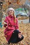 Caminhada no parque do outono Fotografia de Stock Royalty Free