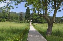 Caminhada no parque do palácio de Massandra Imagens de Stock
