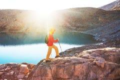 Caminhada no Patagonia fotos de stock royalty free
