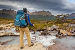 Caminhada no Patagonia foto de stock royalty free