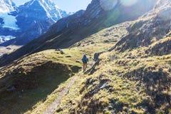 Caminhada no Peru imagem de stock royalty free