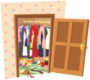 Caminhada no wardrobe Foto de Stock Royalty Free