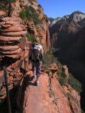 caminhada no zion Foto de Stock