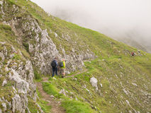 Caminhada nos alpes austríacos Fotos de Stock