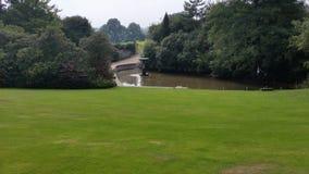 Caminhada nos jardins Imagens de Stock Royalty Free