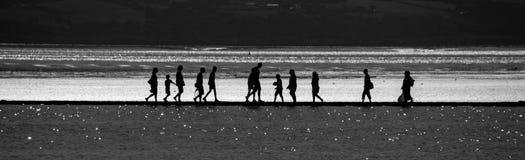 Caminhada pela água fotografia de stock royalty free