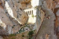 Caminhada perigosa suspendida Foto de Stock Royalty Free