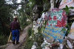CAMINHADA RITUAL TIBETANA Fotografia de Stock