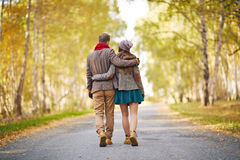 Caminhada romântica Fotografia de Stock