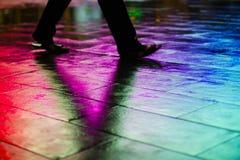 Caminhada V do arco-íris fotos de stock royalty free
