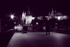 caminhadas da noite Imagens de Stock