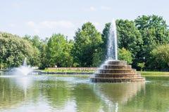 Caminhando a área no padeiro Park em Frederick, Maryland fotografia de stock royalty free