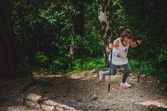 Caminhando 6 anos de menina idosa Imagens de Stock Royalty Free