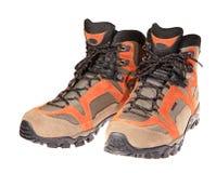 Caminhando botas no fundo branco Imagem de Stock Royalty Free