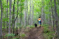 Caminhando Bruce Trail foto de stock