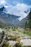 Caminhando em Val Malenco, Itália Fotografia de Stock Royalty Free