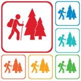 Caminhando a ilustração do ícone Foto de Stock Royalty Free