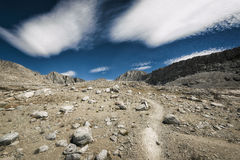 Caminhando John Muir Trail Fotos de Stock Royalty Free