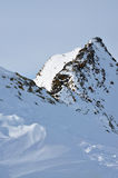 Caminhando o trajeto em alpes de Tirol Fotografia de Stock