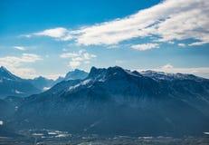 Caminhando o trajeto nos alpes julianos Fotos de Stock Royalty Free