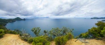 Caminhando a passagem litoral de Coromandel, Nova Zelândia 5 fotos de stock royalty free