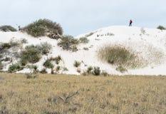Caminhante, areias brancas fotos de stock
