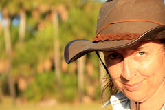 Caminhante australiano do arbusto imagem de stock royalty free