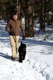 Caminhante do cão Foto de Stock