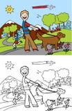 Caminhante do cão Fotografia de Stock