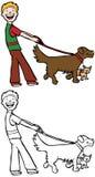 Caminhante do cão Fotos de Stock Royalty Free