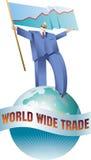 Caminhante do comércio mundial Fotografia de Stock