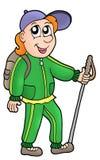 Caminhante dos desenhos animados Fotos de Stock Royalty Free