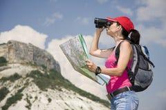 Caminhante nas montanhas Imagens de Stock Royalty Free