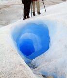 Caminhantes da geleira do Patagonia Foto de Stock