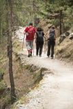 Caminhantes em Samaria Gorge imagem de stock royalty free