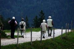 Caminhantes idosos Imagens de Stock Royalty Free