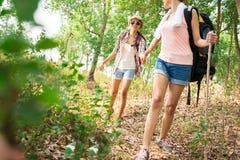 Caminhantes novos Fotografia de Stock Royalty Free