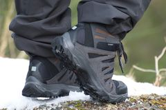 Caminhar botas, apronta-se para andar fotografia de stock royalty free