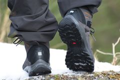 Caminhar botas, apronta-se para andar fotos de stock royalty free
